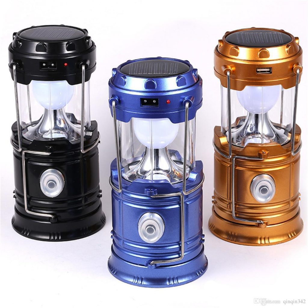 2019 Solar Lamps New Style Portable Outdoor Led Camping Lantern