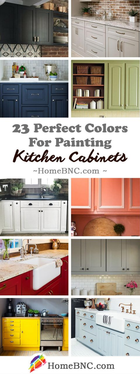 23 Best Kitchen Cabinets Painting Color Ideas And Designs For 2019