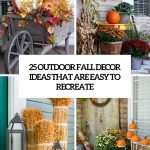 Easy Outdoor Fall Decorations