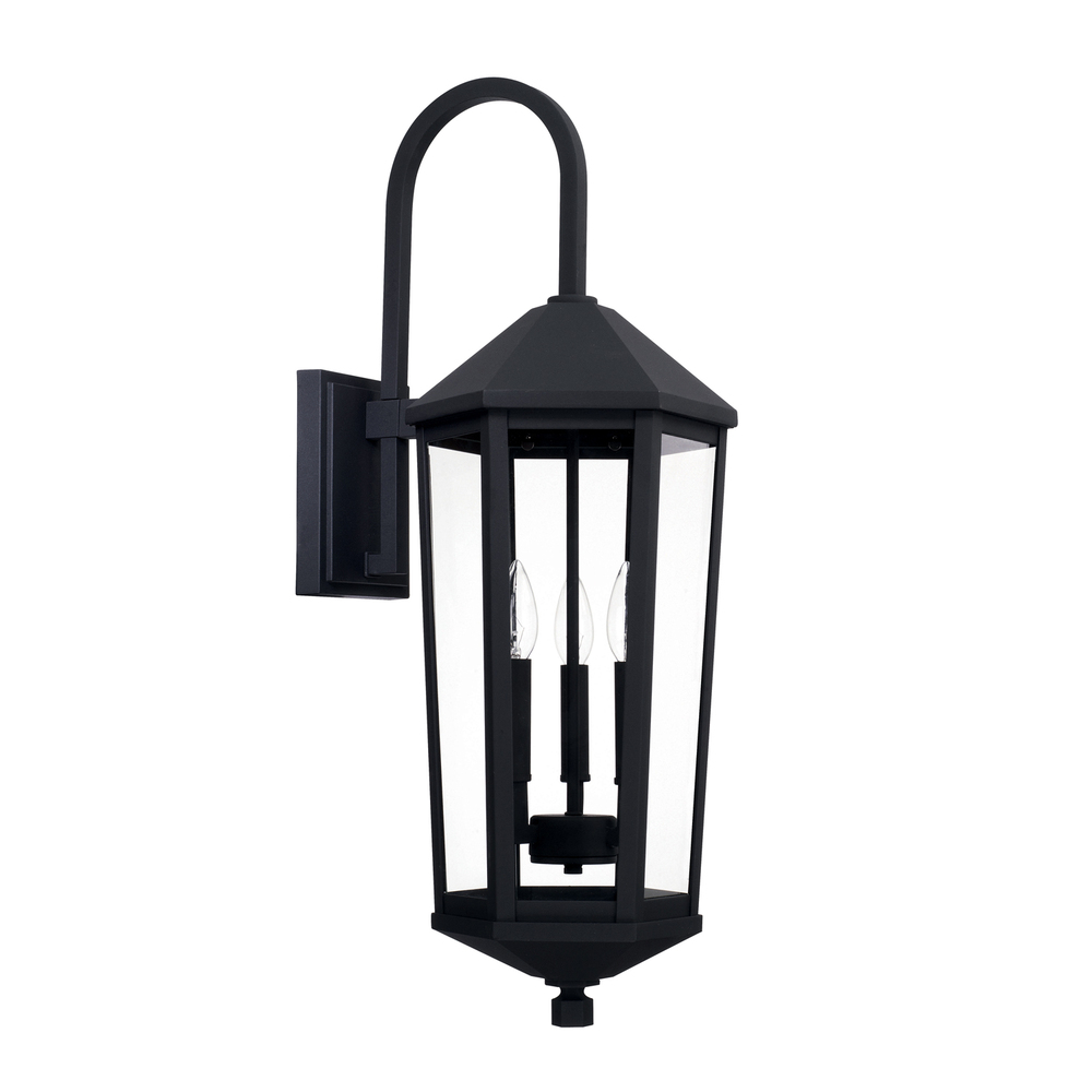 3 Light Outdoor Wall Lantern 926931bk Cartwright Lighting