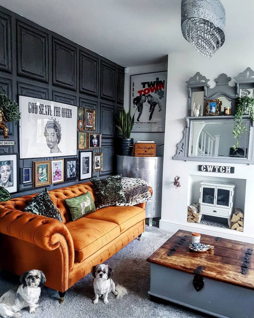 30 Charming Living Room Design With Orange Color Themes Home Ideas
