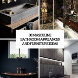 30 Masculine Bathroom Appliances And Furniture Ideas Digsdigs