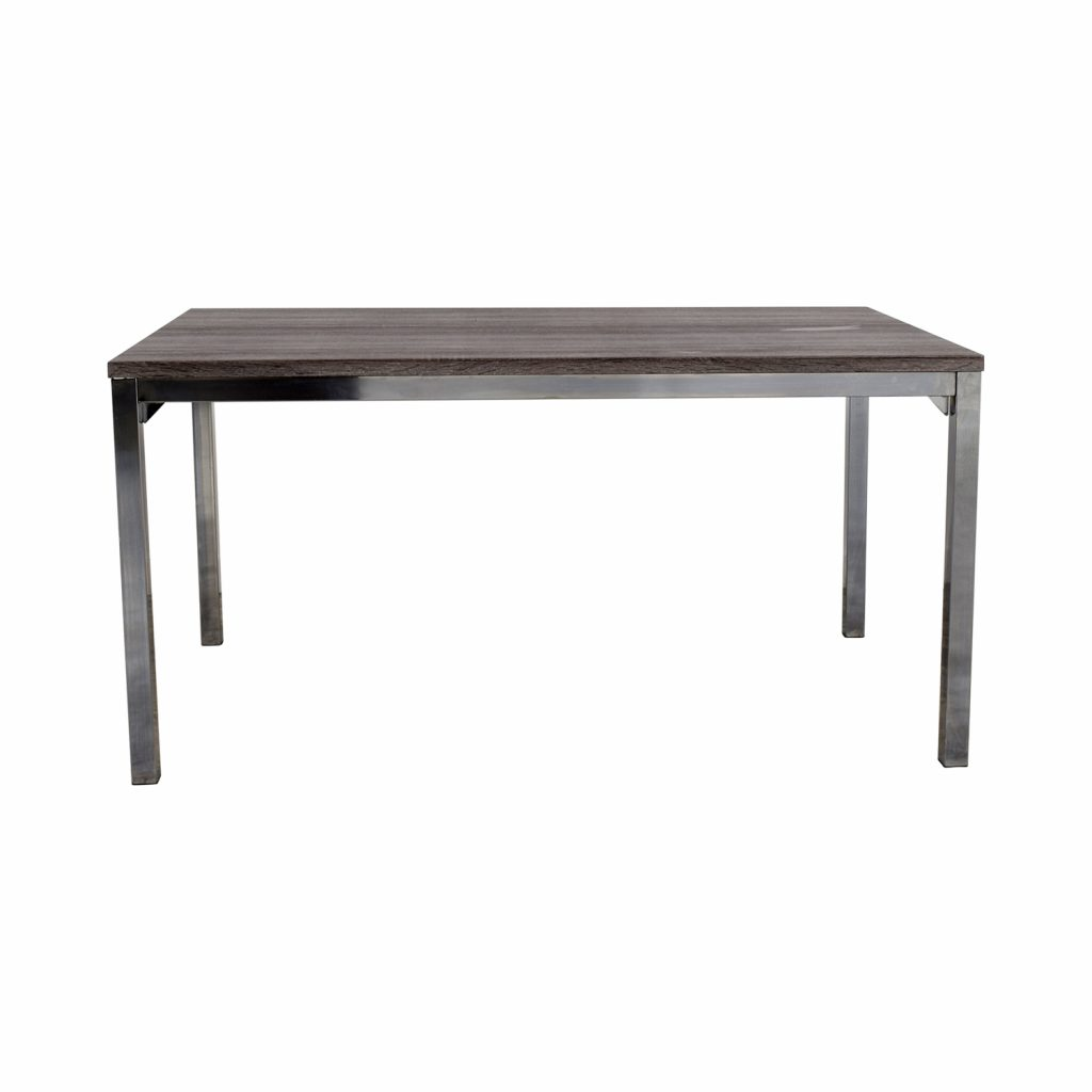 31 Off Wildon Home Wildon Home Rustic Wood Top And Chrome Dining