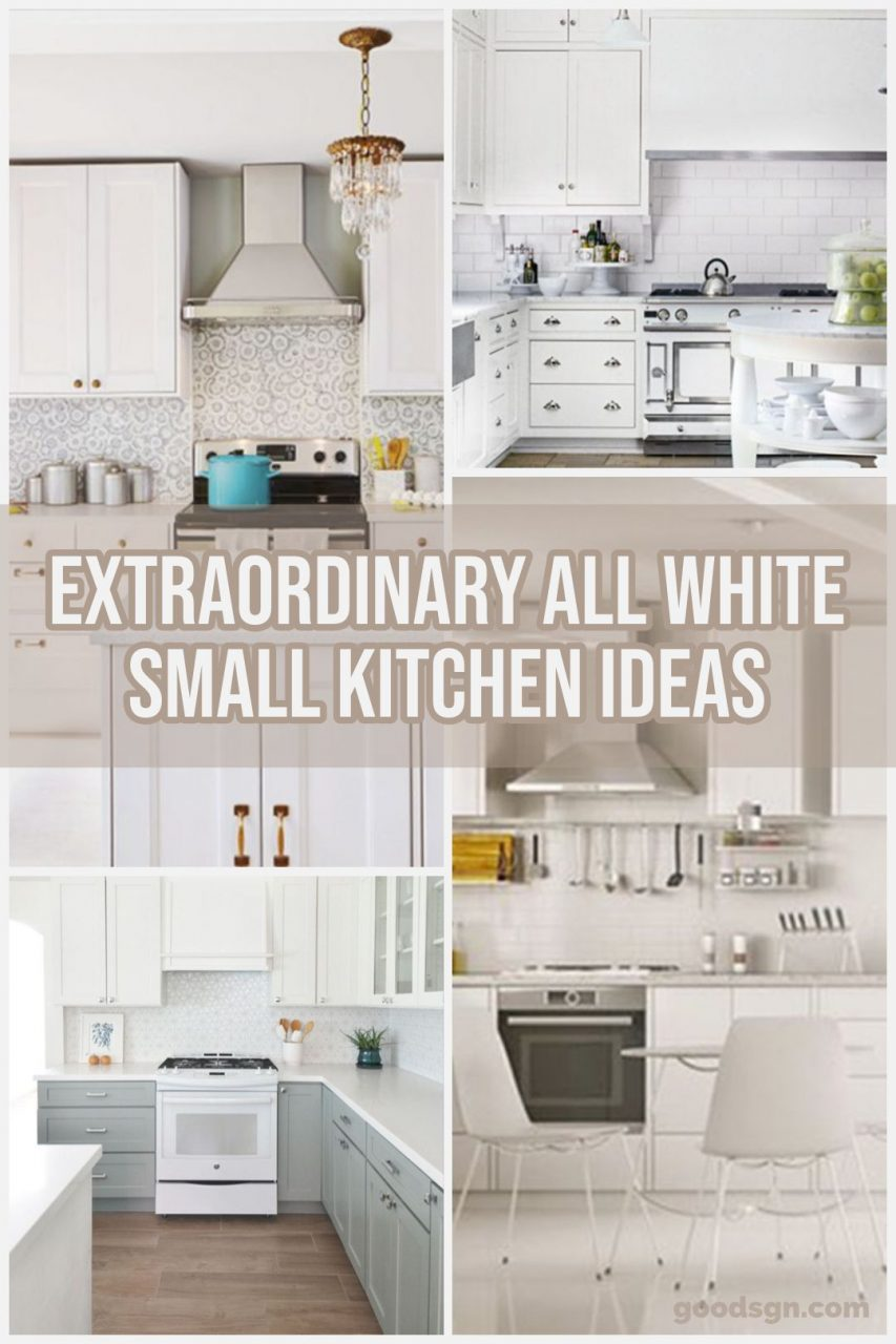 33 Extraordinary All White Small Kitchen Ideas To Look Wider And
