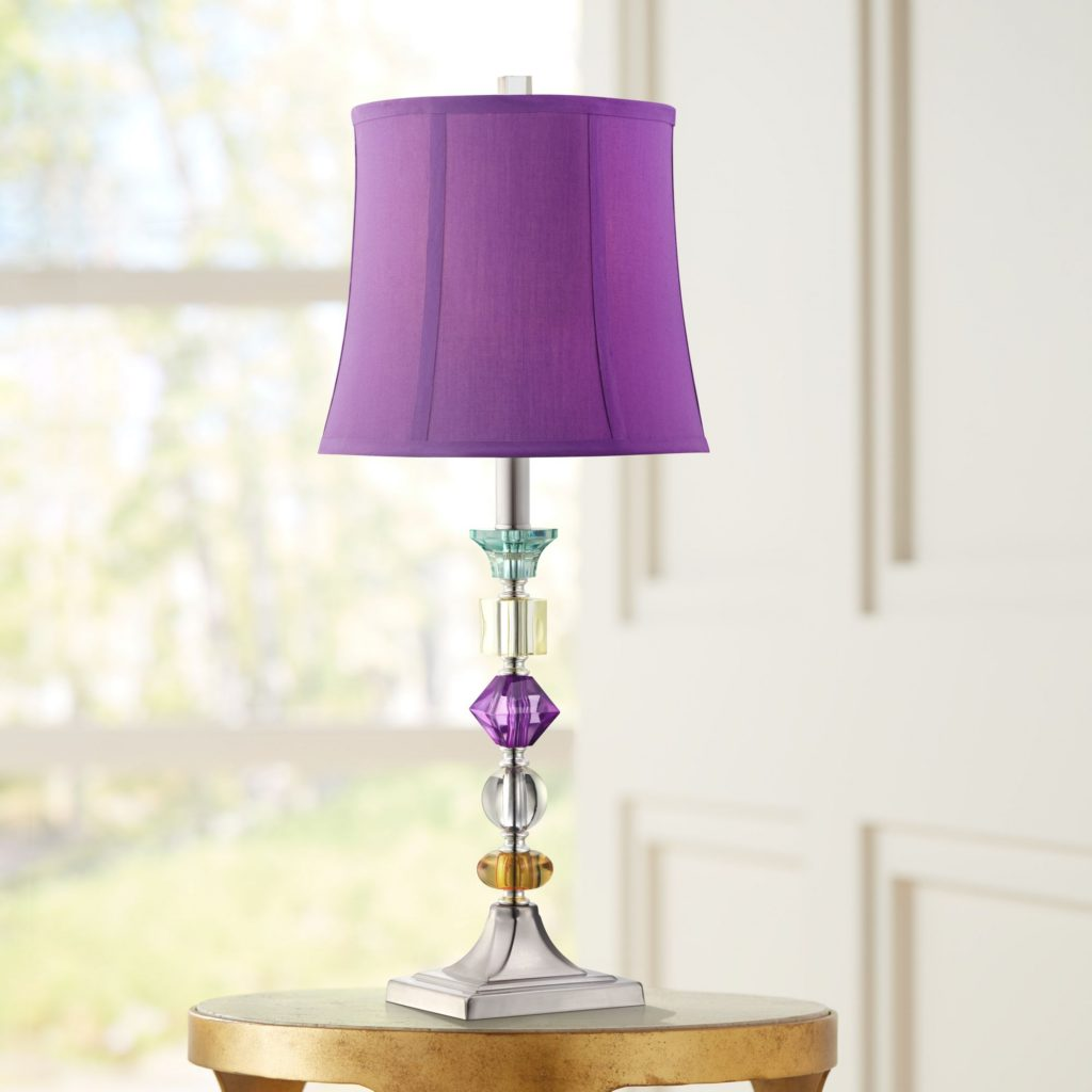 360 Lighting Multi Colored Modern Table Lamp Clear Stacked Gem