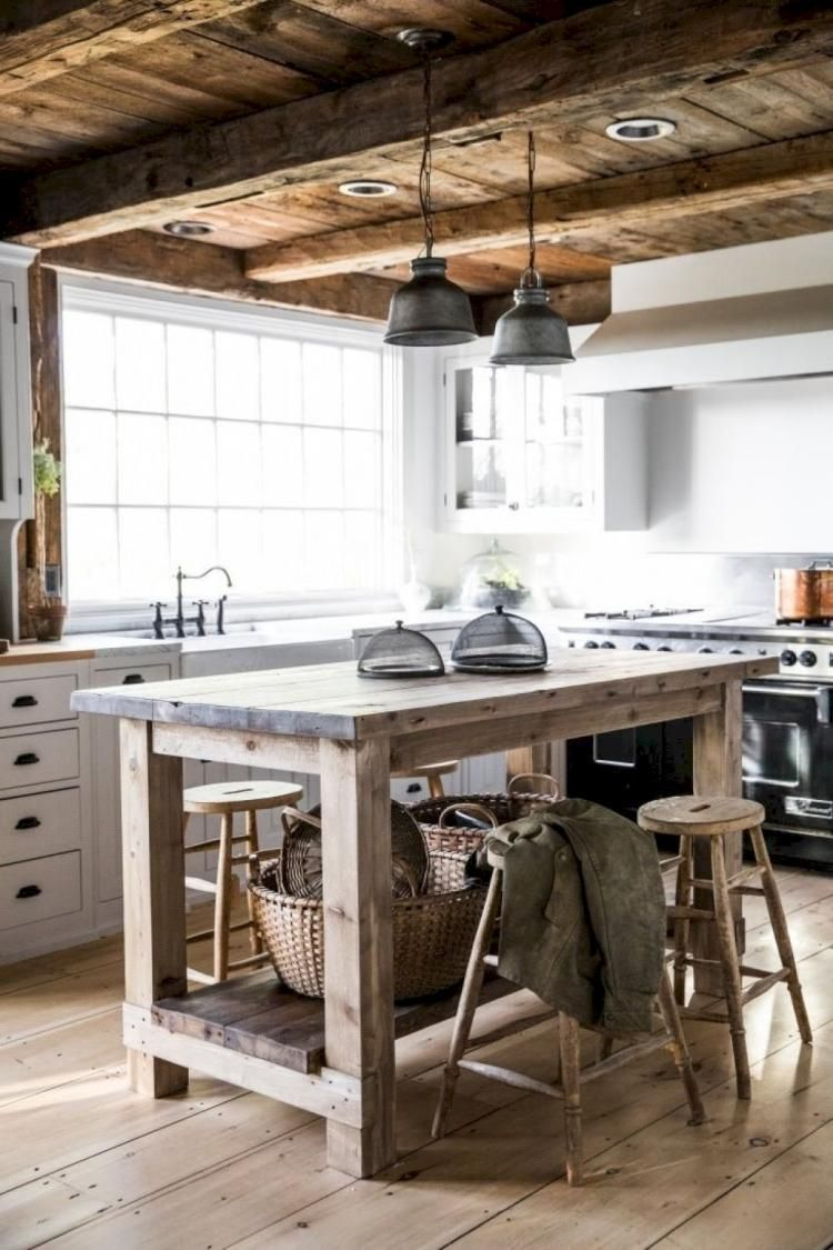40 Best Farmhouse Kitchen Island Decor Ideas On A Budget Rustic