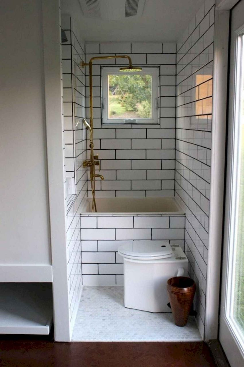 40 Stunning Tiny House Bathroom Shower Design Ideas And Remodel 9