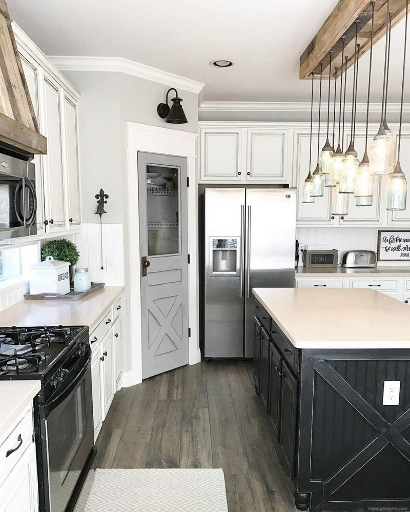 48 Gorgeous Farmhouse Kitchen Inspiration Ideas Rejenghouse
