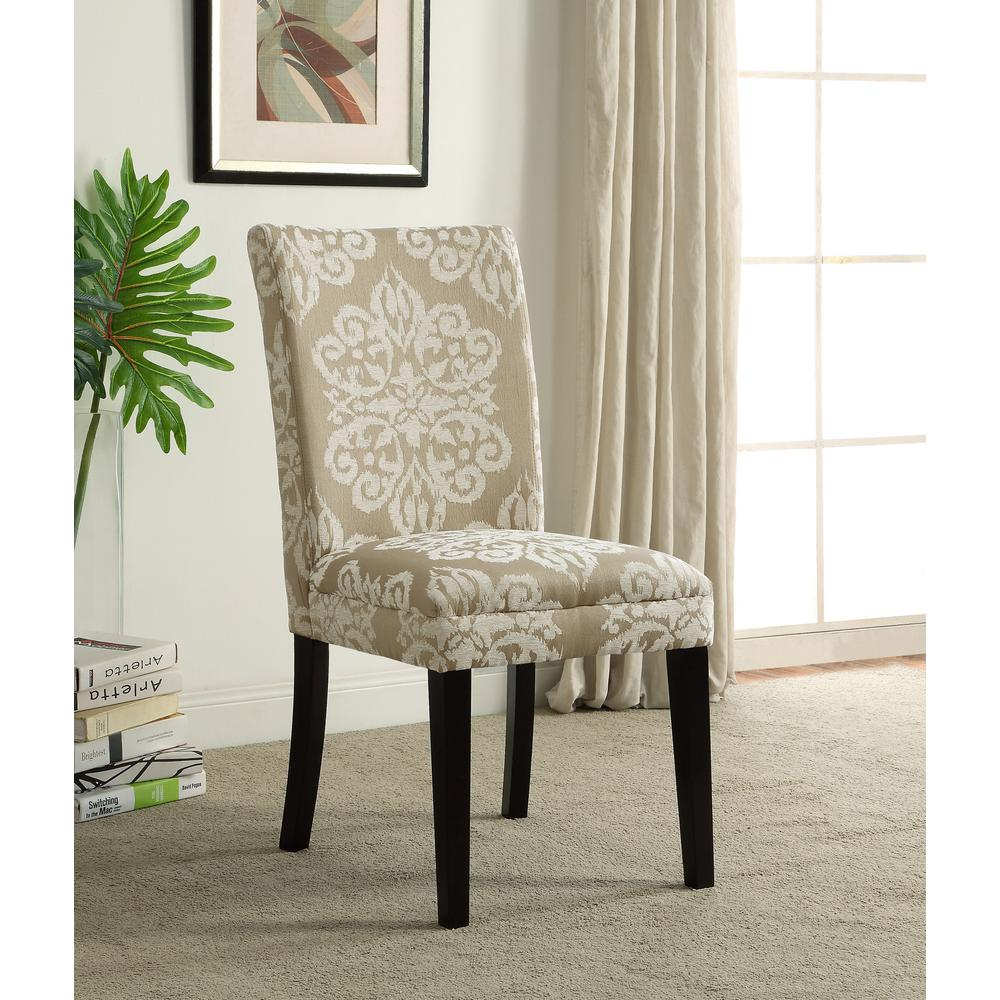 4d Concepts Itaki Taupe And Ivory Parsons Dining Chair 773021 The