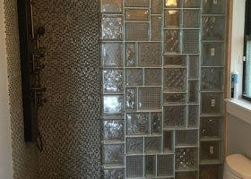 Bathroom Shower Walls Using Glass Blocks
