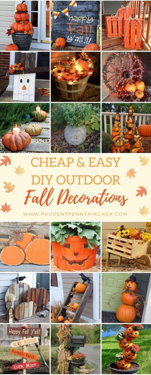 50 Cheap And Easy Diy Outdoor Fall Decorations Outdoor Decor