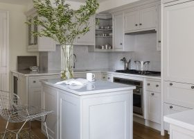 All White Small Kitchen