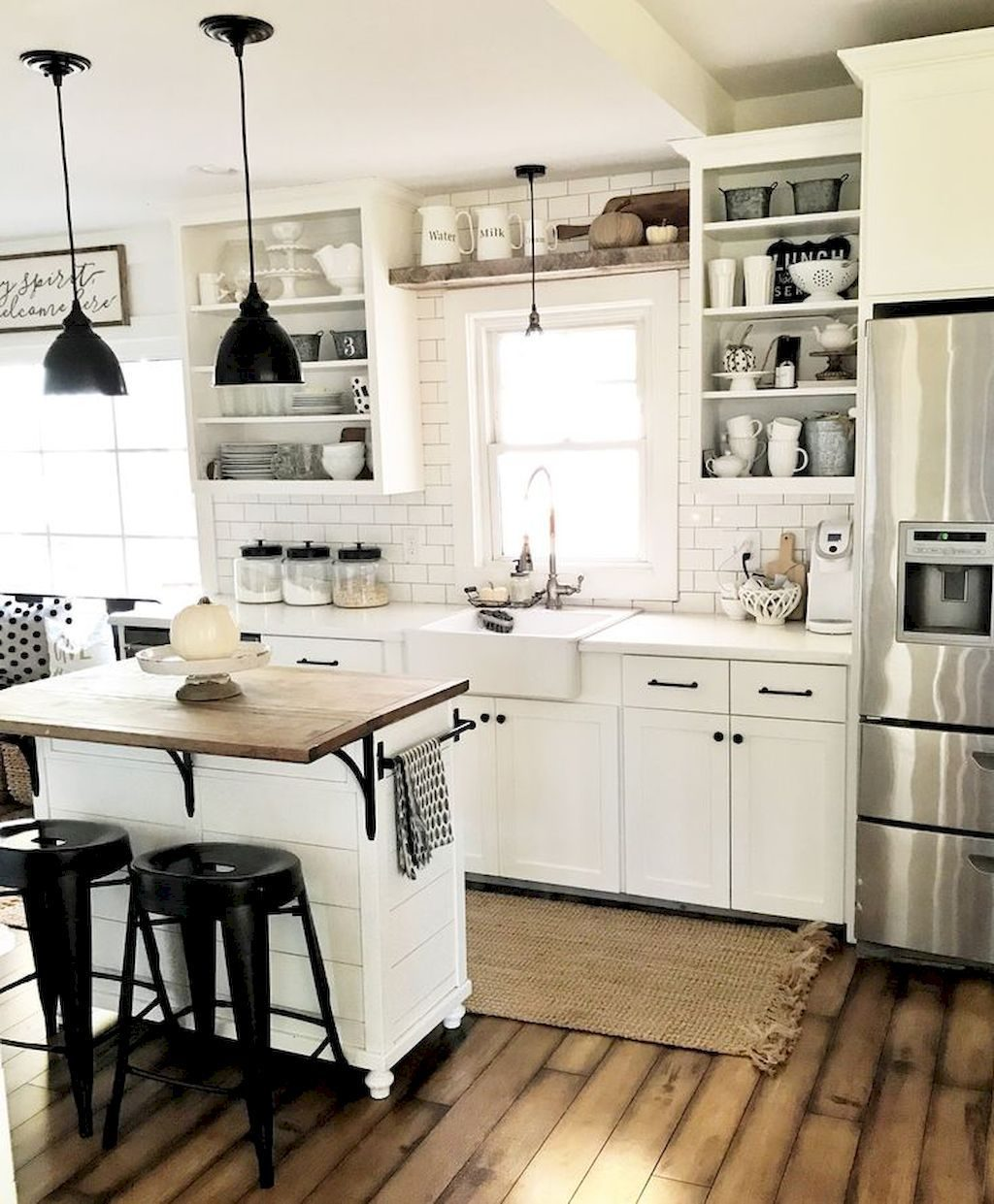 70 Best Rustic Farmhouse Kitchen Cabinet Ideas Lighting Kitchen