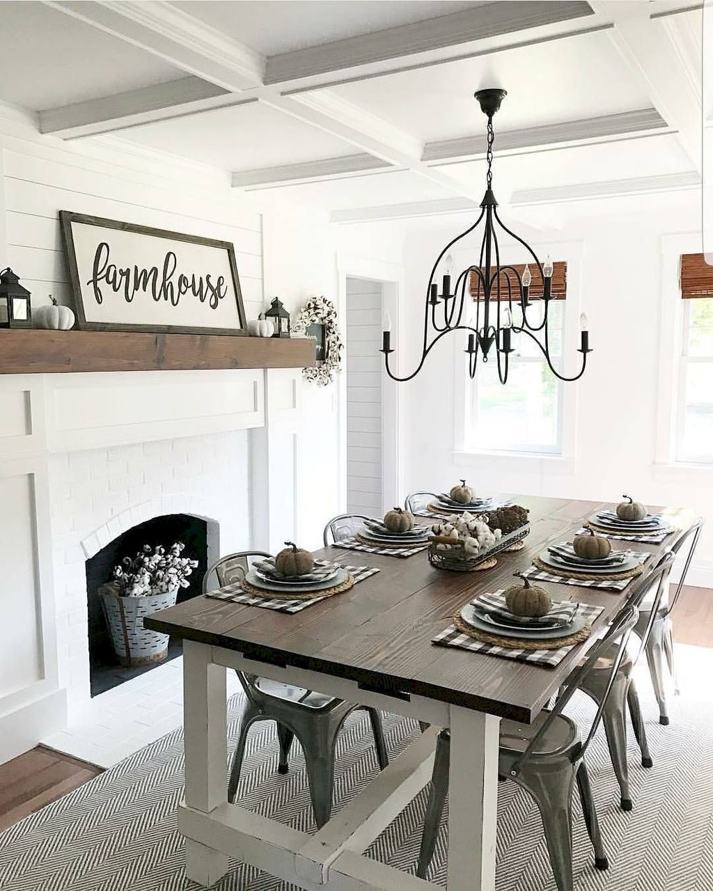 80 Best Farmhouse Dining Room Makeover Decor Ideas Home Decor