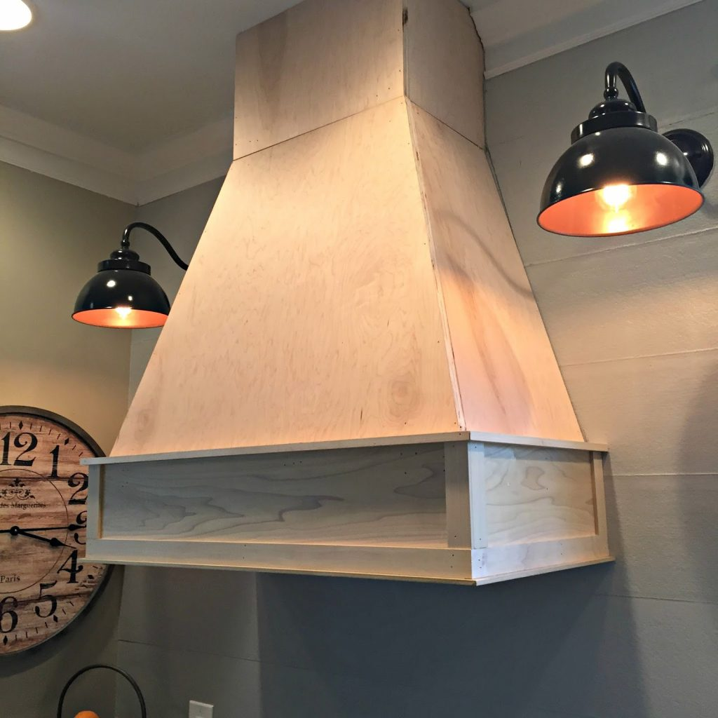 A Diyish Wood Vent Hood From Thrifty Decor Chick