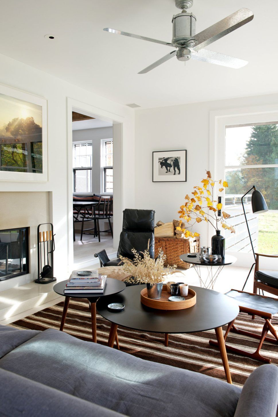 A Mid Century Meets Industrial Meets Country Living Room Mid