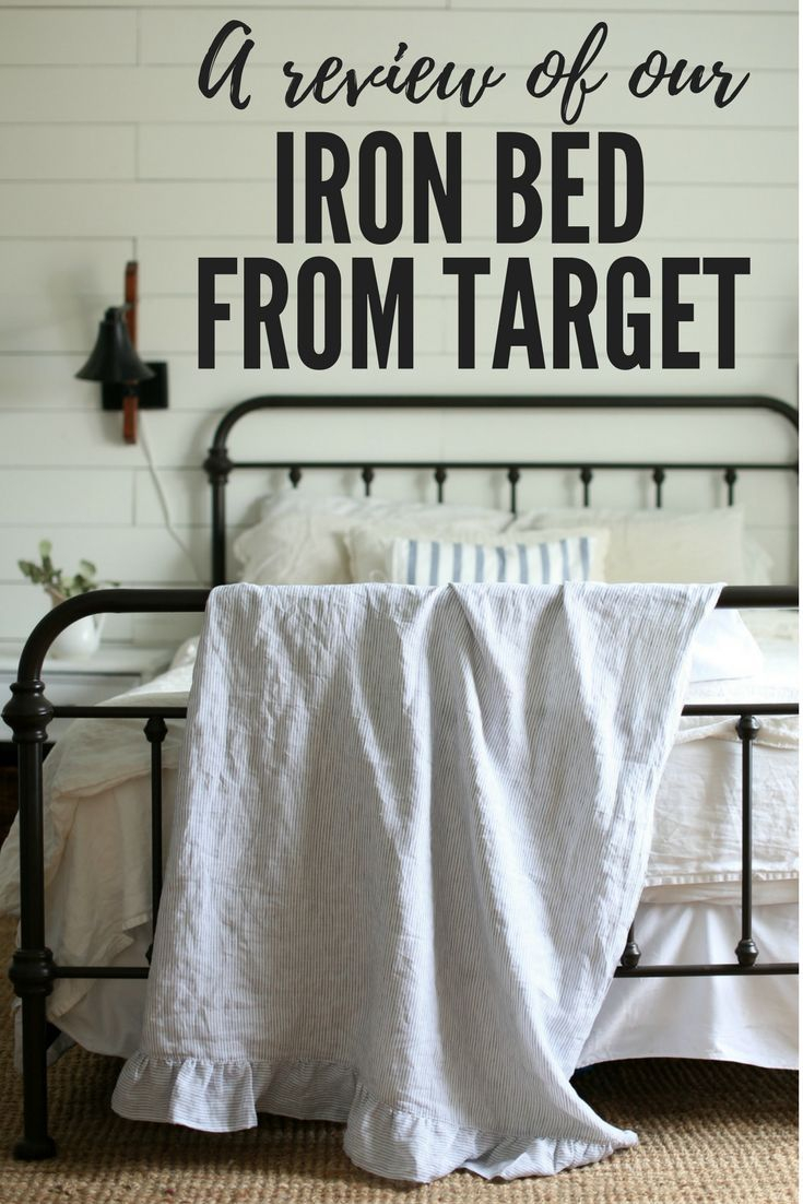 A Review Of Our Iron Bed From Target Bedrooms Home Bedroom