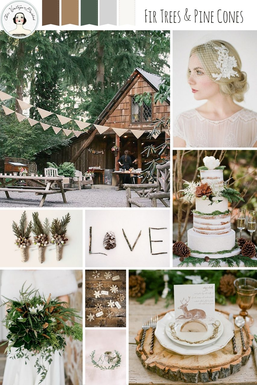 A Rustic Winter Woodland Wedding Inspiration Board Chic Vintage Brides