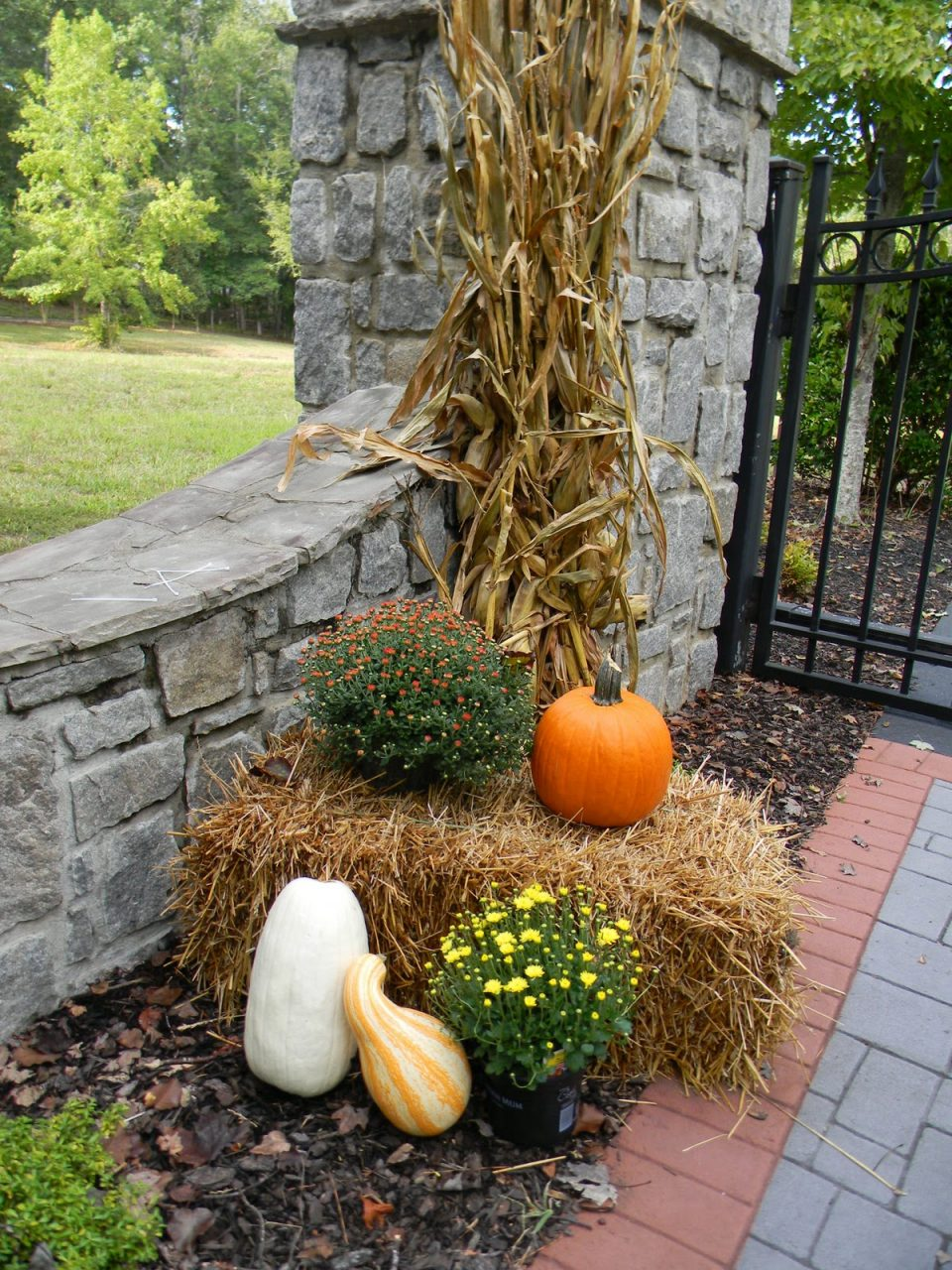 A Toile Tale Outside Fall Decorating