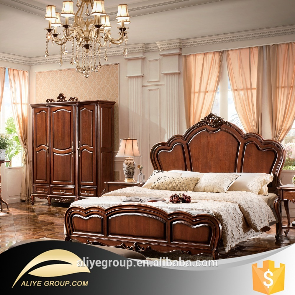 Ab33 Teak Wood Bedsolid Teak Wood Bedroom Furniture Setbedroom Set