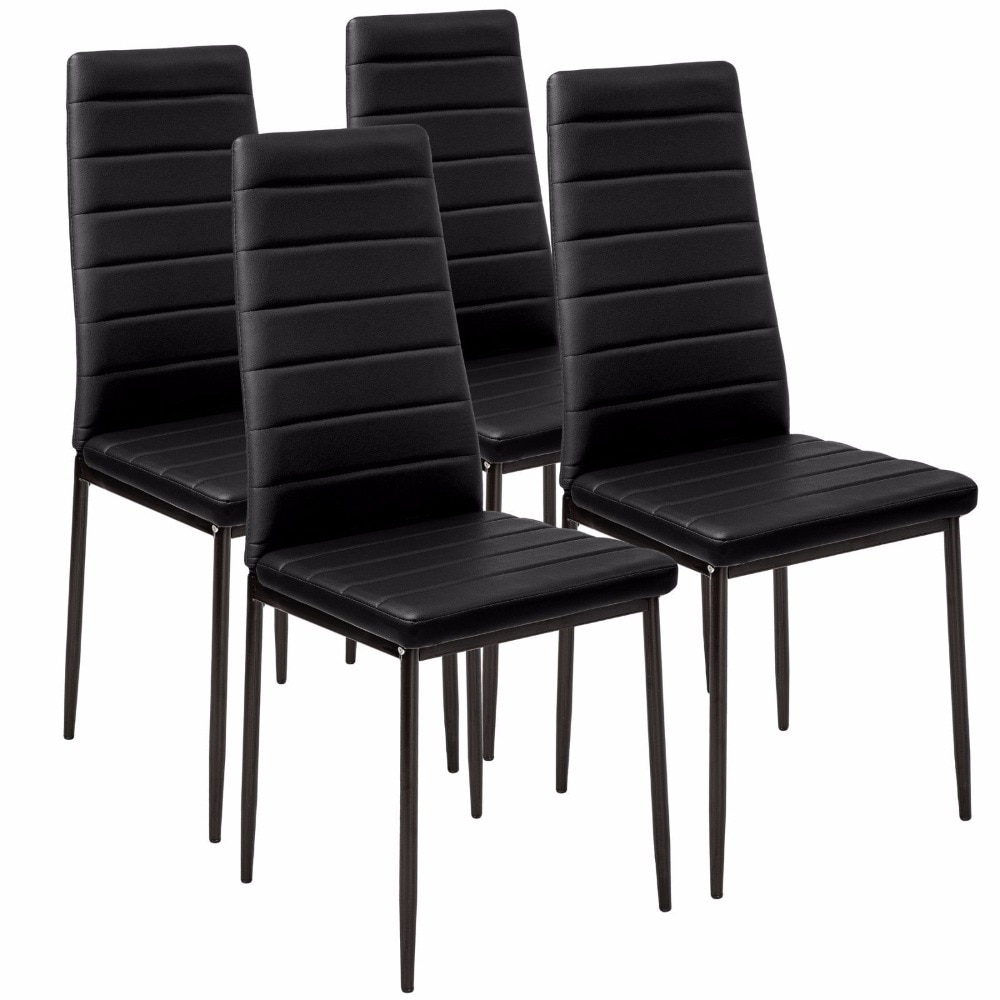 Aliexpress Faux Leather Dining Chair Black High Back Chrome