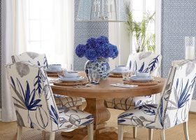 Coastal Fabric Chairs Dining