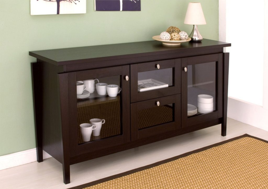 Amazon Furniture Of America Cedric Modern Buffet Espresso