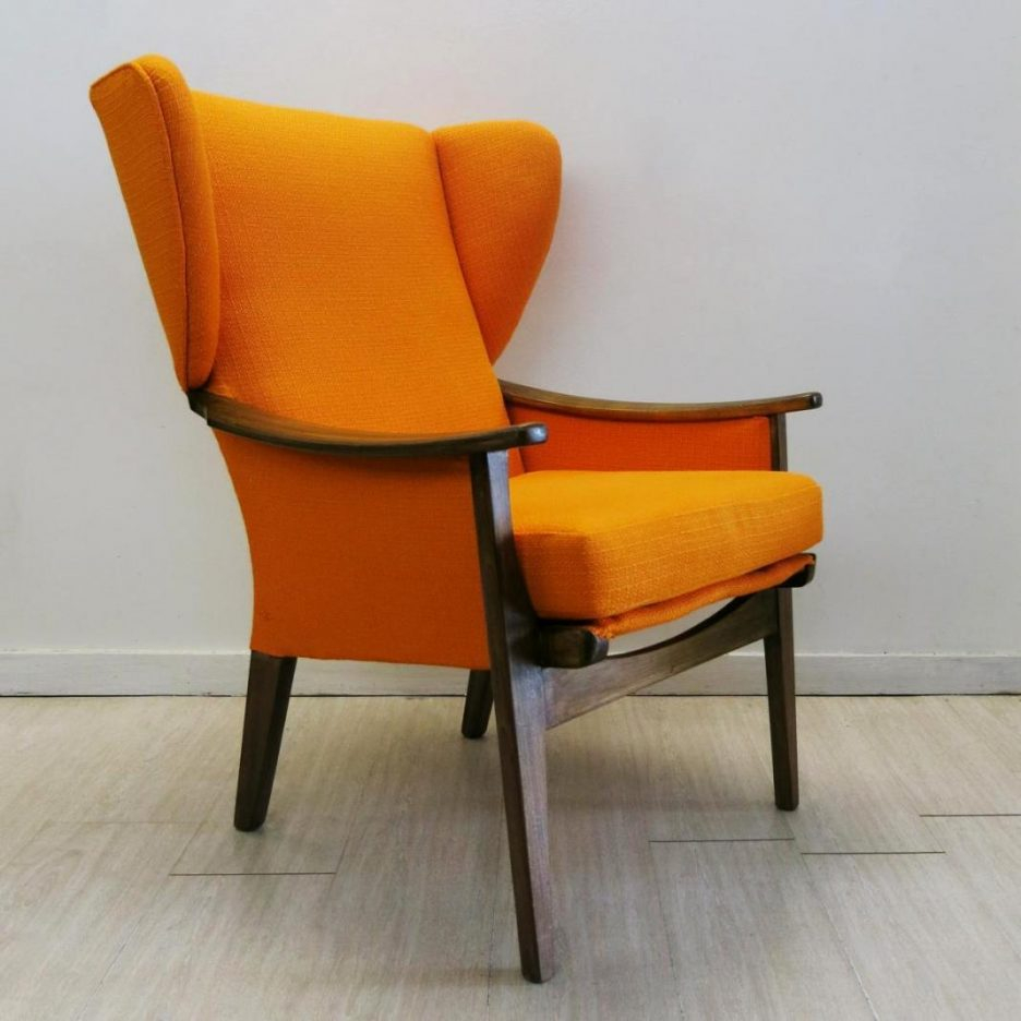 Armchair Dark Orange Chair Modern Living Room Chairs Pink Velvet