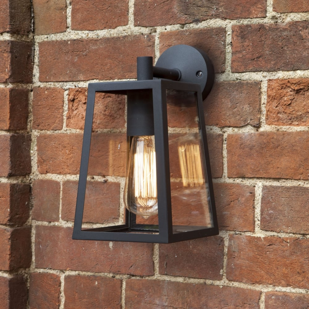 Astro Lighting 7105 Calvi Black Lantern Exterior Wall Light