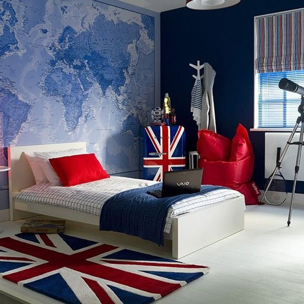 Awesome 47 Modern Teenage Boys Bedroom Design Ideas Inspiring