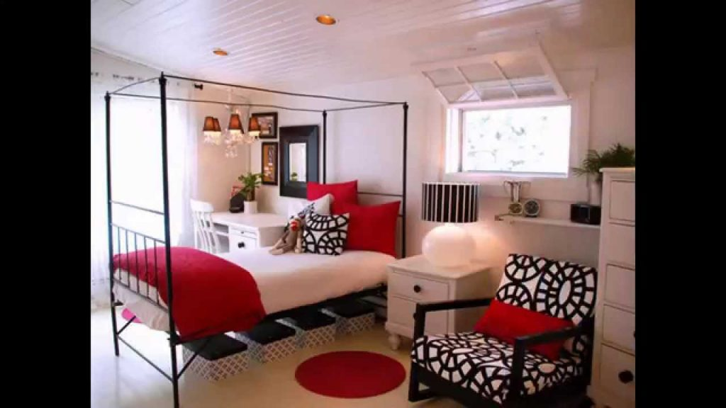 Awesome Red Black And White Bedroom Design Ideas Youtube