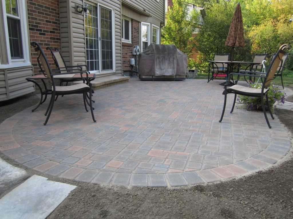 Backyard Landscape And Hardscape Hardscape Materials Outdoor