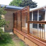 Louvered Privacy Wall Deck