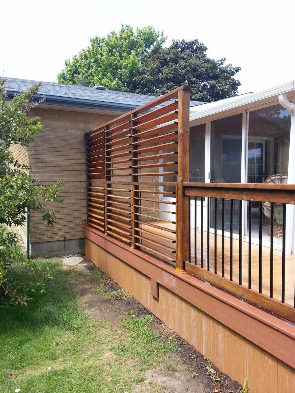 Backyard Privacy Screen Louvers Great Solution Flex Fences