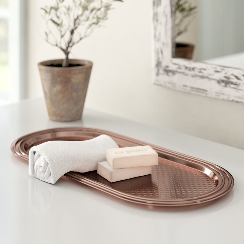 Bartel Hammered Copper Bathroom Accessory Tray Reviews Birch Lane