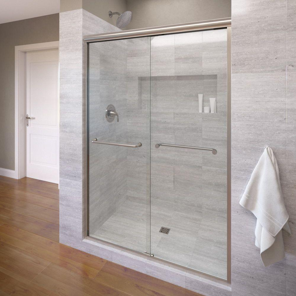 Basco Infinity 58 12 In X 70 In Semi Frameless Sliding Shower