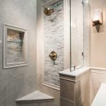 Glass Mosaic Tile Bathroom Showers Designs