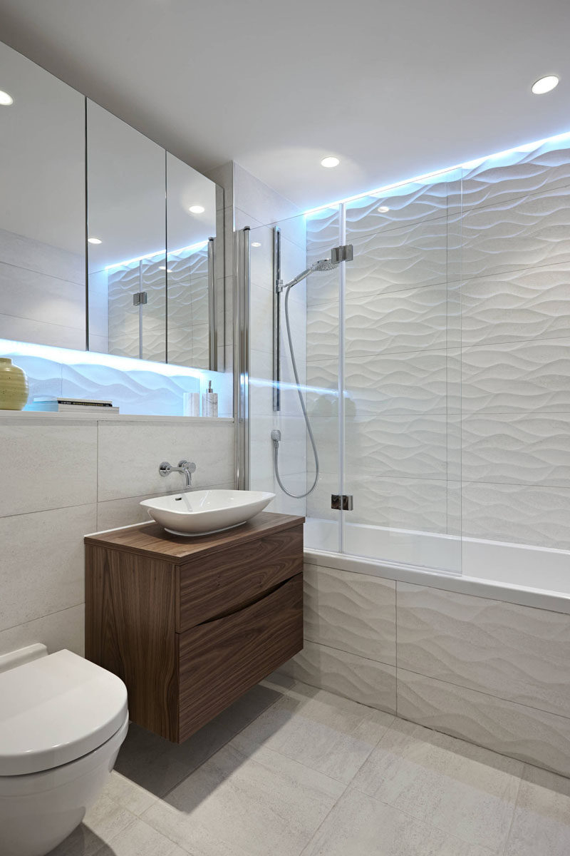 Bathroom Tile Idea Install 3d Tiles To Add Texture To Your