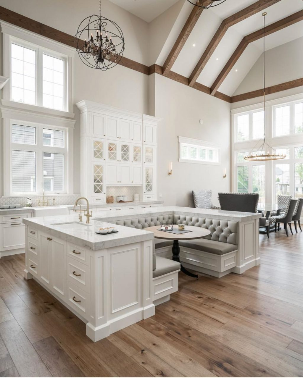 Beautiful Kitchen With Both Casual And More Formal Dining Areas