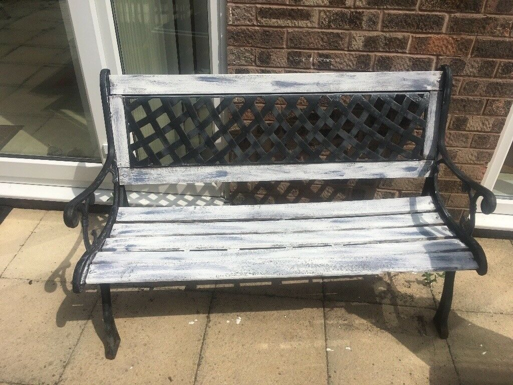 Beautiful Shab Chic Rustic Garden Bench In Mossley Hill
