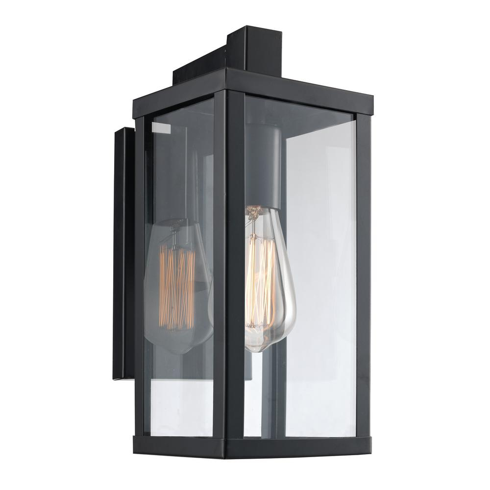Bel Air Lighting Oxford 1 Light Black Outdoor Wall Mount Lantern