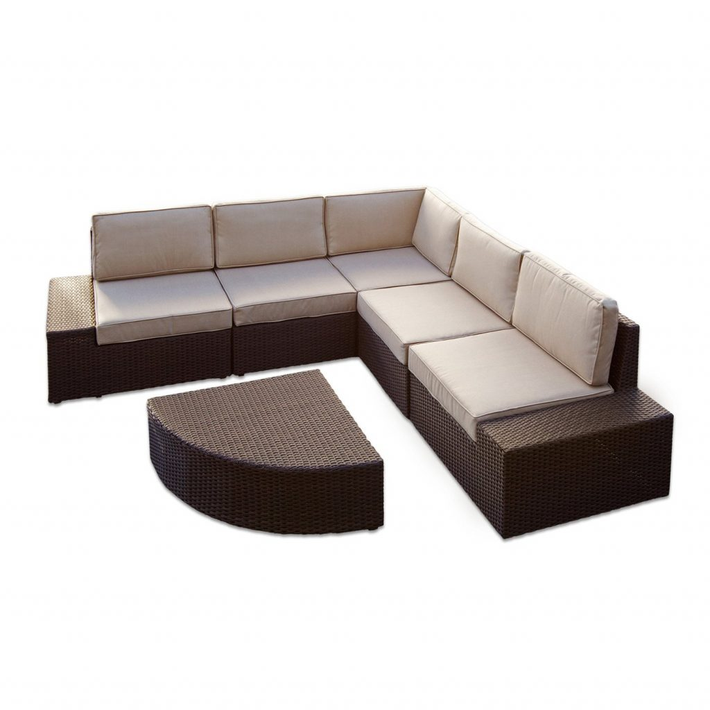 Best Selling Home Decor Santa Cruz Outdoor Sectional Sofa Set