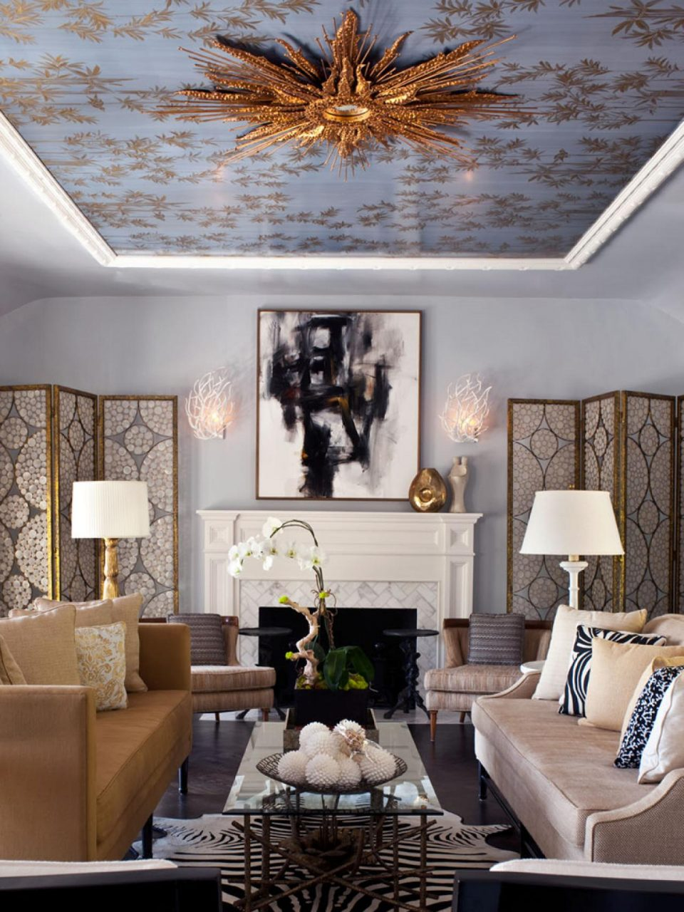 Blue And Gold Living Rooms Awesome Charming Design Room 20 Appealing
