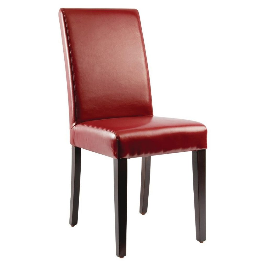 Bolero Faux Leather Dining Chairs Red Pack Of 2 Gh443 Buy