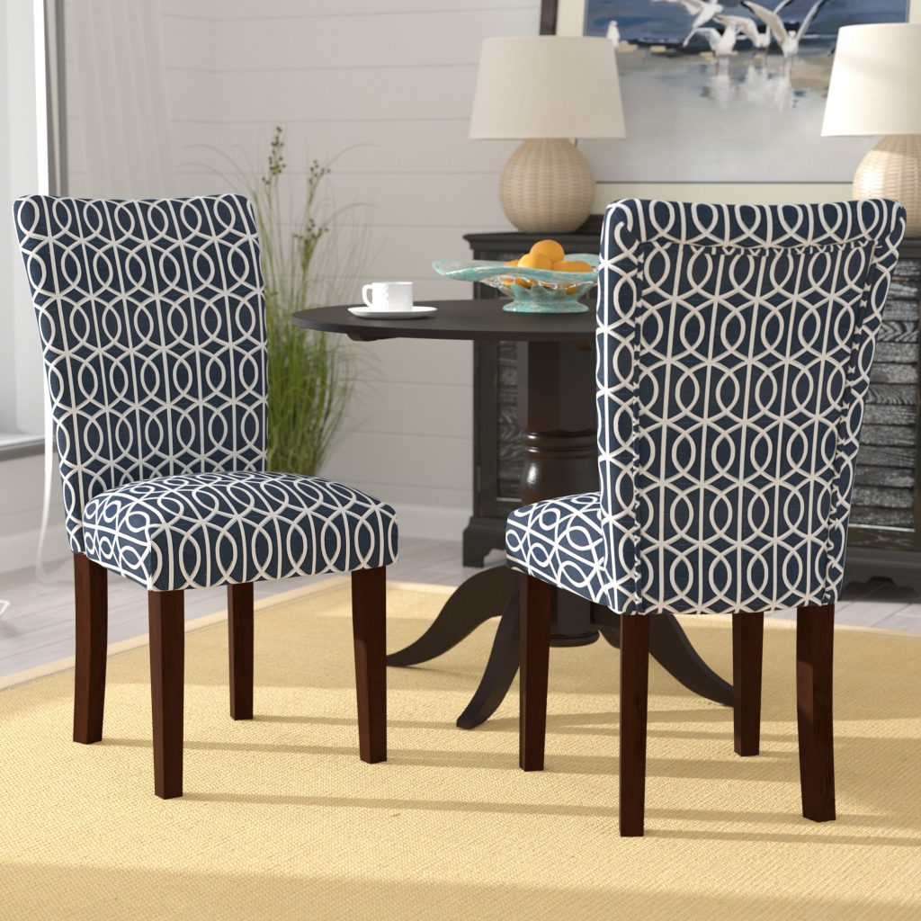 Breakwater Bay Zariyah Parsons Trellis Upholstered Dining Chair