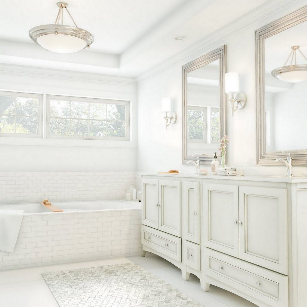 Bright White Master Bath Bathroom The Home Depot
