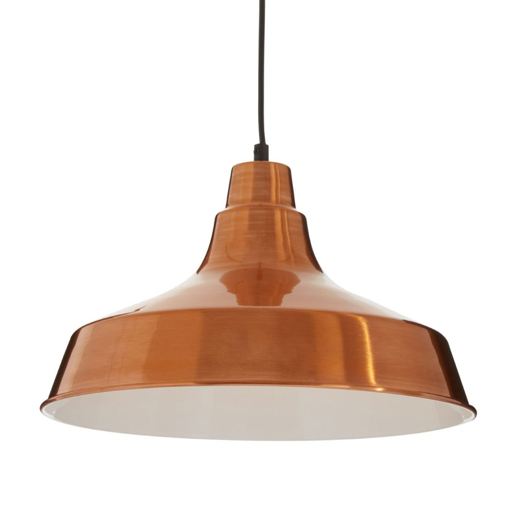 Brinn Pendant Light Metal Copper Finish Hanging Ceiling Lamp
