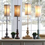 Brown Table Lamps Dining Room Sideboard Lamps Ornamental Table Lamps