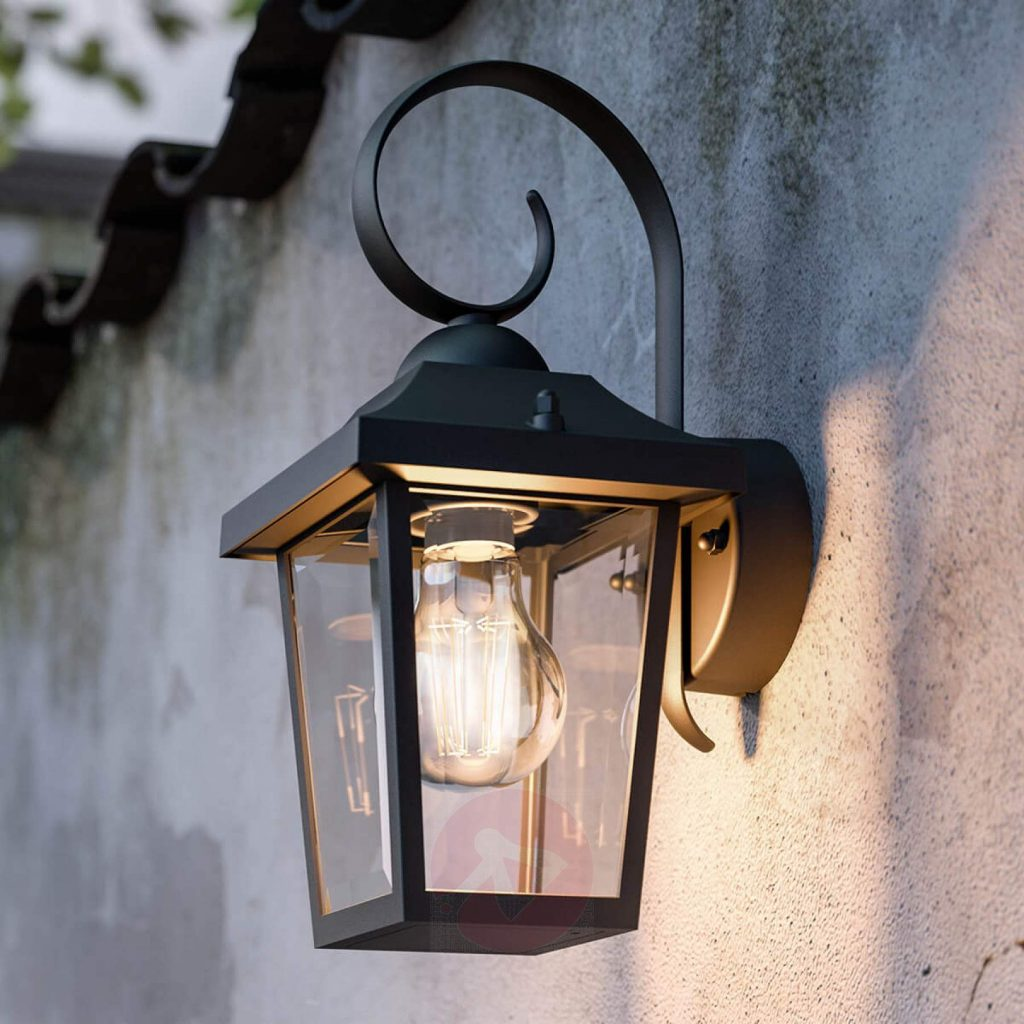 Buzzard Mygarden Black Outdoor Wall Lamp Lightscouk