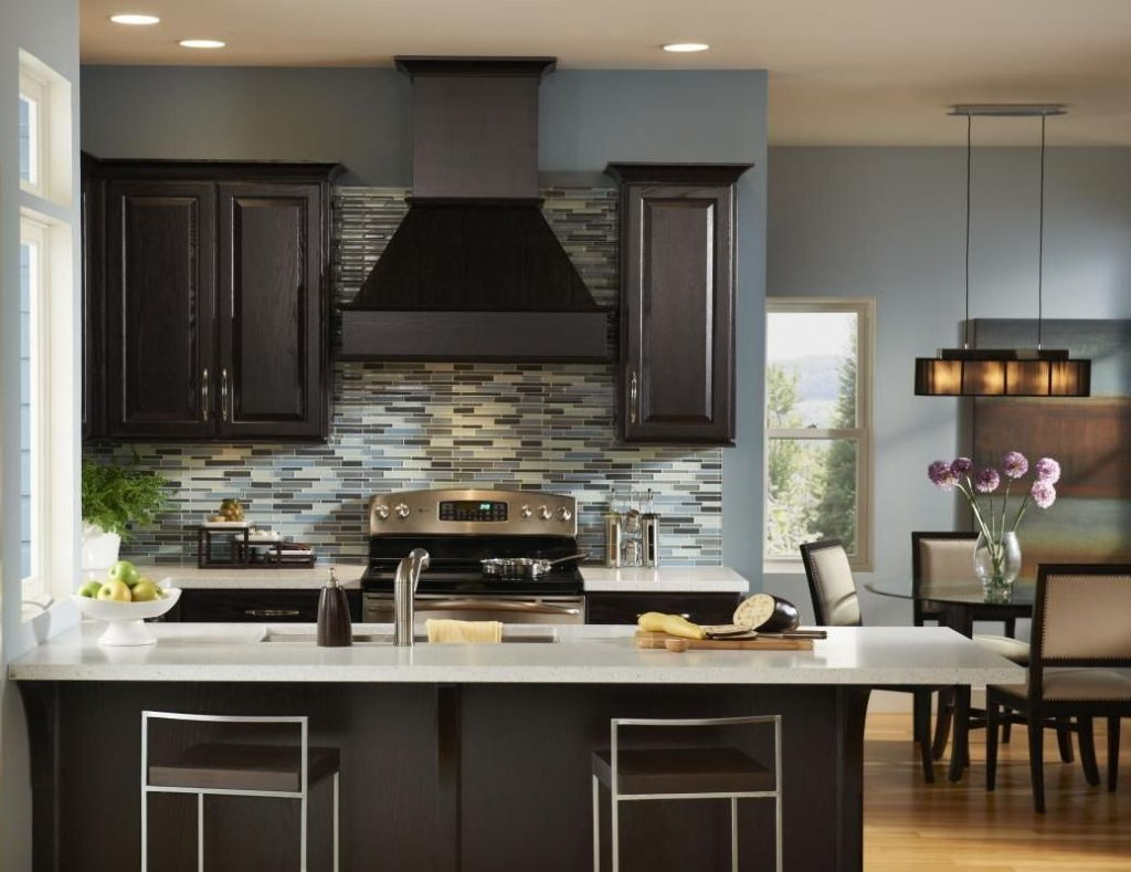 Cabinet Island Ideas Light Shaker Pictures Dark Paint Walls Gray